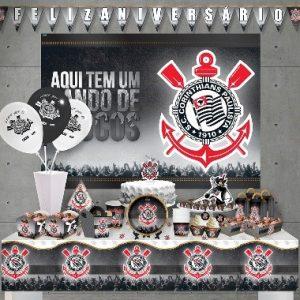 decoração de festa infantil Corinthians