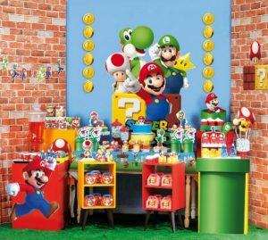 decoração de festa infantil super mario
