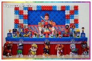 decoração de festa infantil patrulha canina