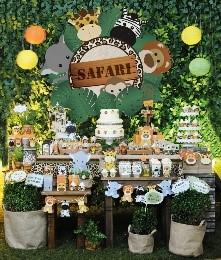 decoração de festa infantil safari