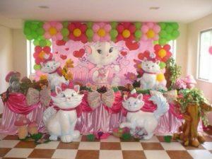 decoração de festa infantil marie