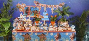 decoração de festa infantil moana