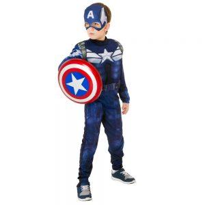 Fantasia do capitão america longo
